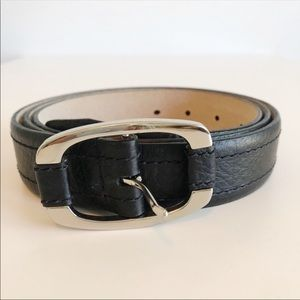 Talbots | Ladies Black Leather Belt | 2XL